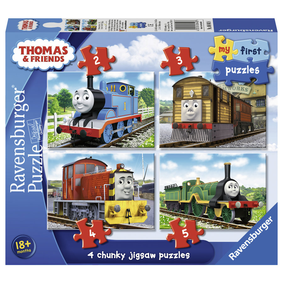Thomas de trein - Puzzels 2, 3, 4 en 5 stukjes-1
