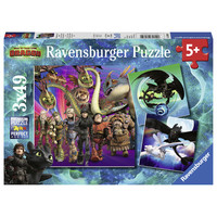 thumb-Dragons 3   - 3 puzzles of 49 pieces-1