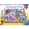 Ravensburger Betoverende zeemeerminnen  - 3 puzzels van 49 stukjes