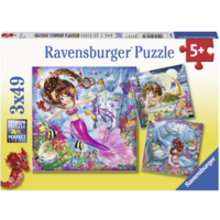 Charming sirens   - 3 puzzles of 49 pieces