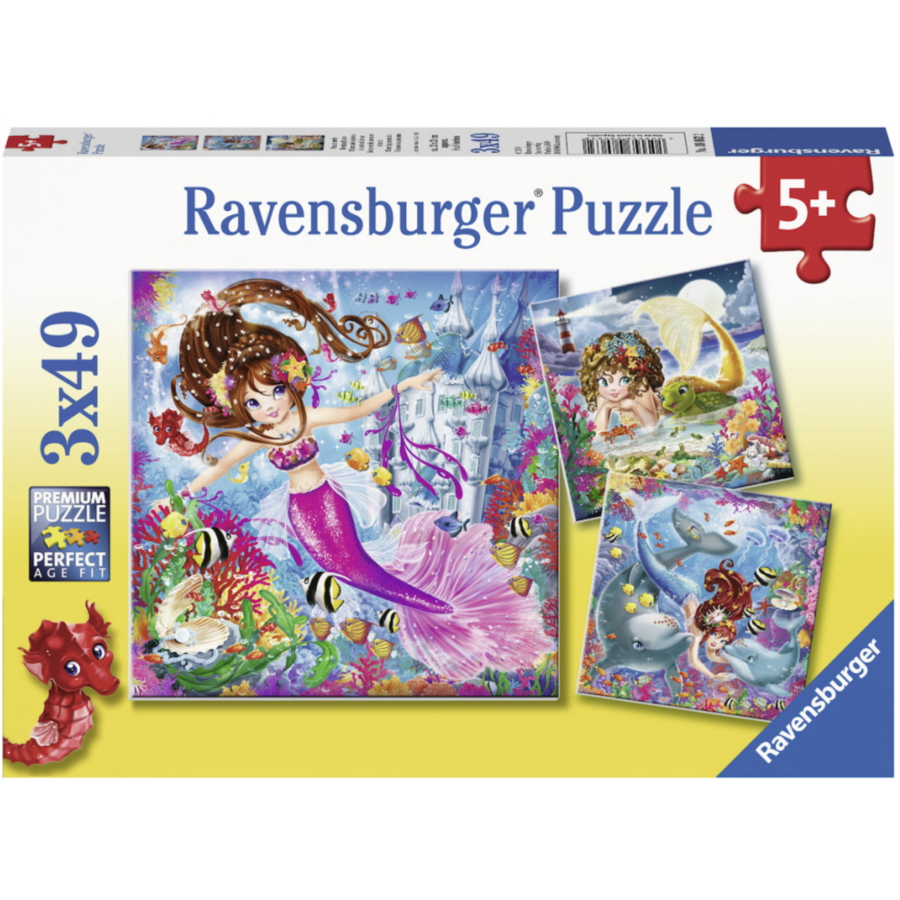 Charming sirens   - 3 puzzles of 49 pieces-1