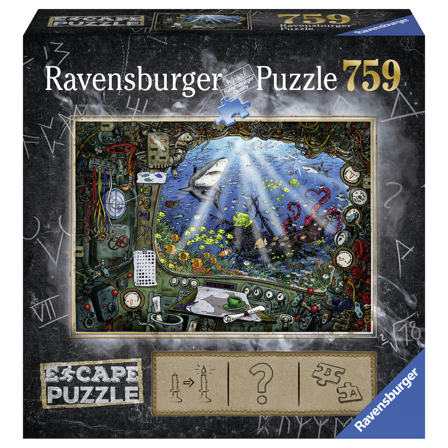 Escape Puzzel 4: De onderzeeër - 759 stukjes-1