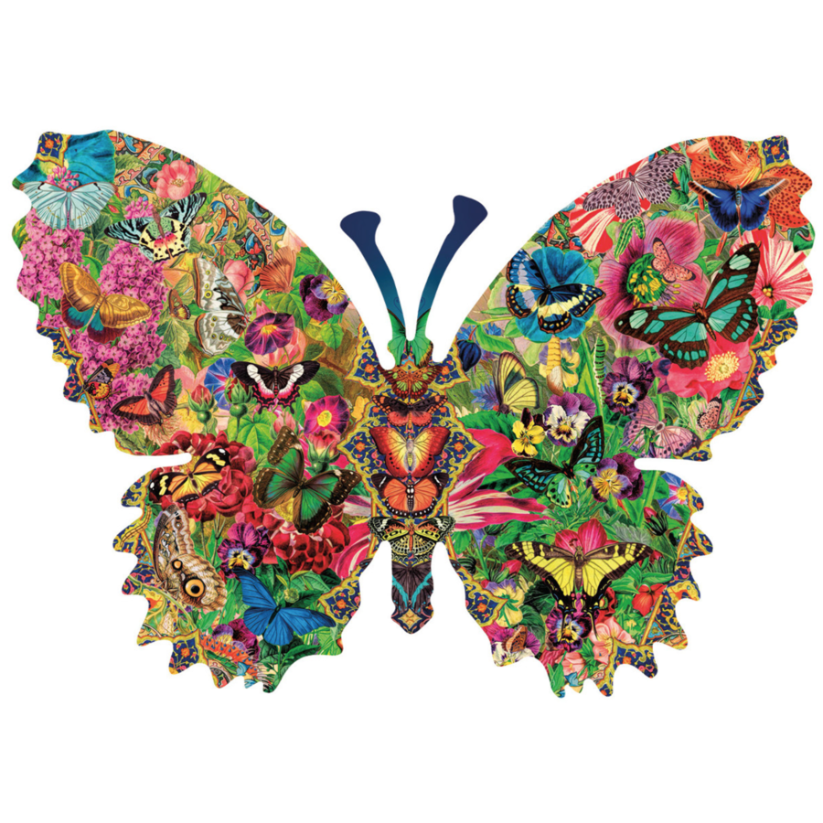 Butterfly Menagerie  - jigsaw puzzle of 1000 pieces-1