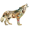 SUNSOUT Native American Wolf -  jigsaw puzzle of 750 pieces