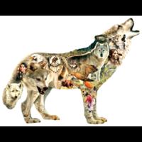 Native American Wolf - legpuzzel van 750 stukjes