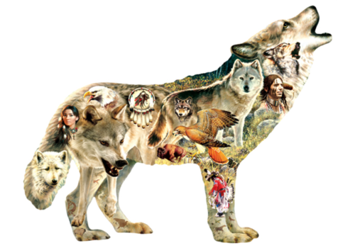 Native American Wolf - 750 pieces
