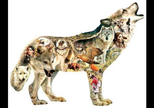 Native American Wolf - 750 stukjes