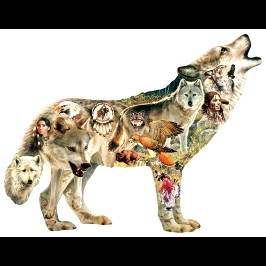 Native American Wolf - legpuzzel van 750 stukjes-1