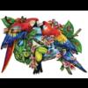 SUNSOUT Parrots in Paradise  - jigsaw puzzle of 1000 pieces