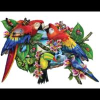 Papegaaien in het paradijs - legpuzzel van 1000 stukjes