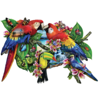 Parrots in Paradise  - jigsaw puzzle of 1000 pieces