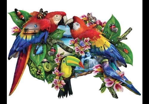 Papegaaien in het paradijs - 1000 stukjes