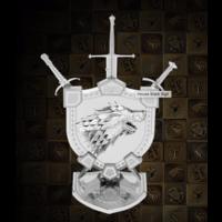 thumb-House Stark Sigil - GOT - Iconx 3D puzzel-1