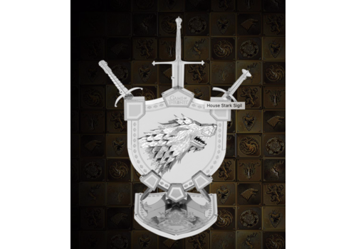 Metal Earth House Stark Sigil - GOT  - Iconx puzzle 3D