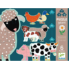 Djeco 6 giant pearls of farm animals - 9, 12 and 15 pieces