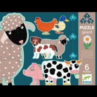thumb-6 reuzengrote puzzels van boerderijdieren - 9, 12 en 15 stukjes-1