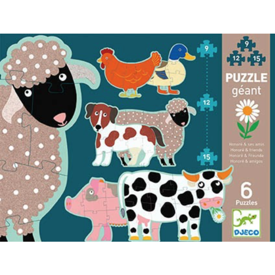 6 giant pearls of farm animals - 9, 12 and 15 pieces-1