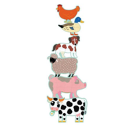 thumb-6 giant pearls of farm animals - 9, 12 and 15 pieces-2