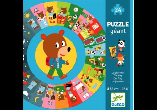 La journée - puzzle rond de 24 pièces