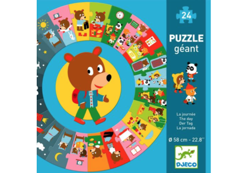 The day - round puzzle of 24 pieces