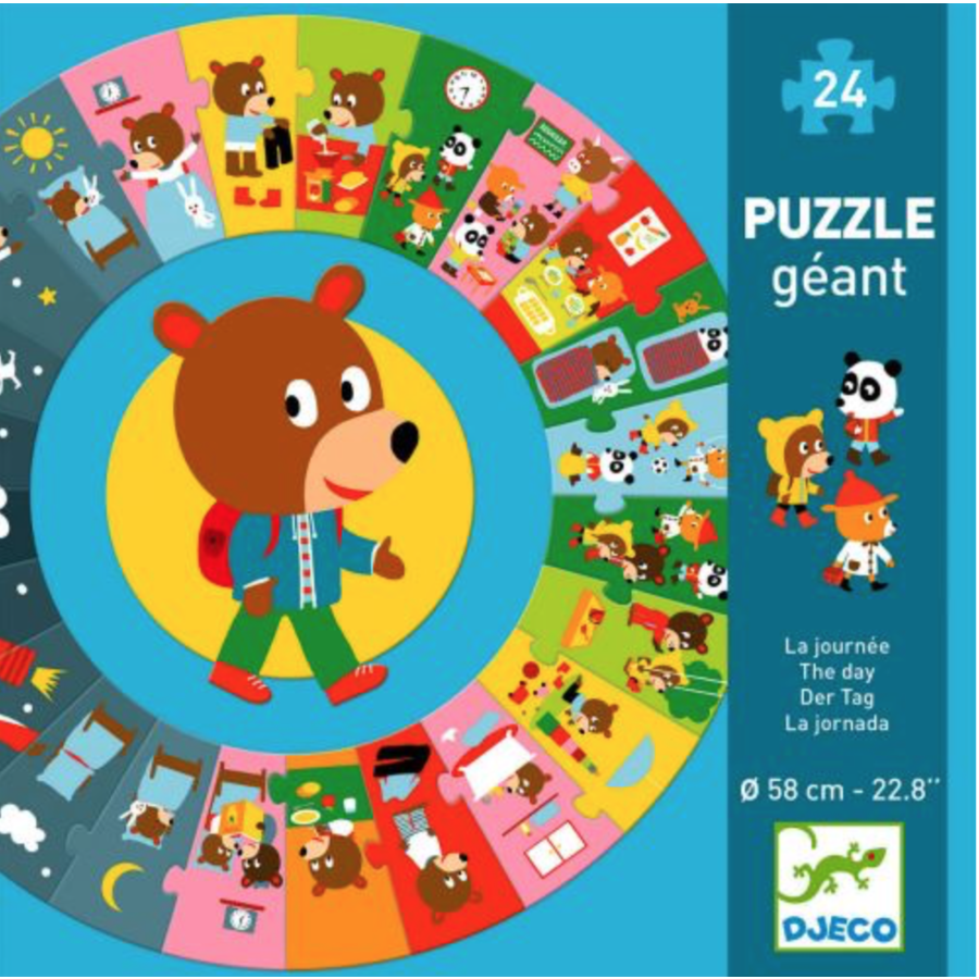 The day - round puzzle of 24 pieces-1