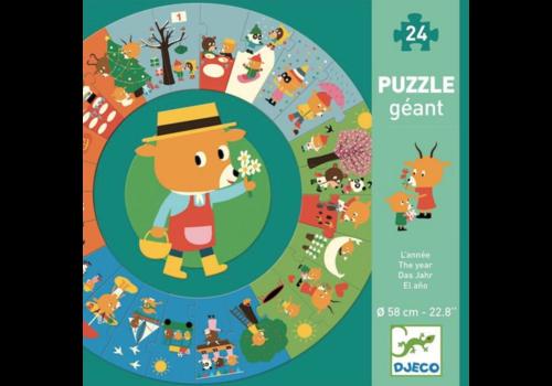 Het jaar - ronde puzzel van 24 stukjes