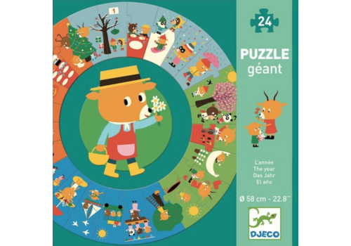 The Year - round puzzle of 24 pieces