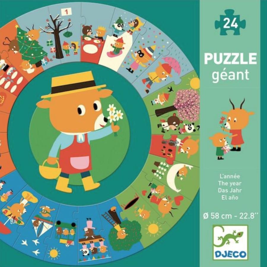 Het jaar - ronde puzzel van 24 stukjes-1
