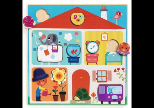 Djeco Puzzle BOIS  - Swapy - 10 pièces