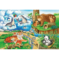 thumb-Animals in the zoo - 2 puzzles of 12 pieces-2
