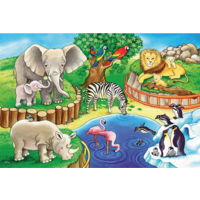 thumb-Animals in the zoo - 2 puzzles of 12 pieces-3