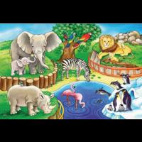 thumb-Dieren in de dierentuin - 2 puzzels van 12 stukjes-3