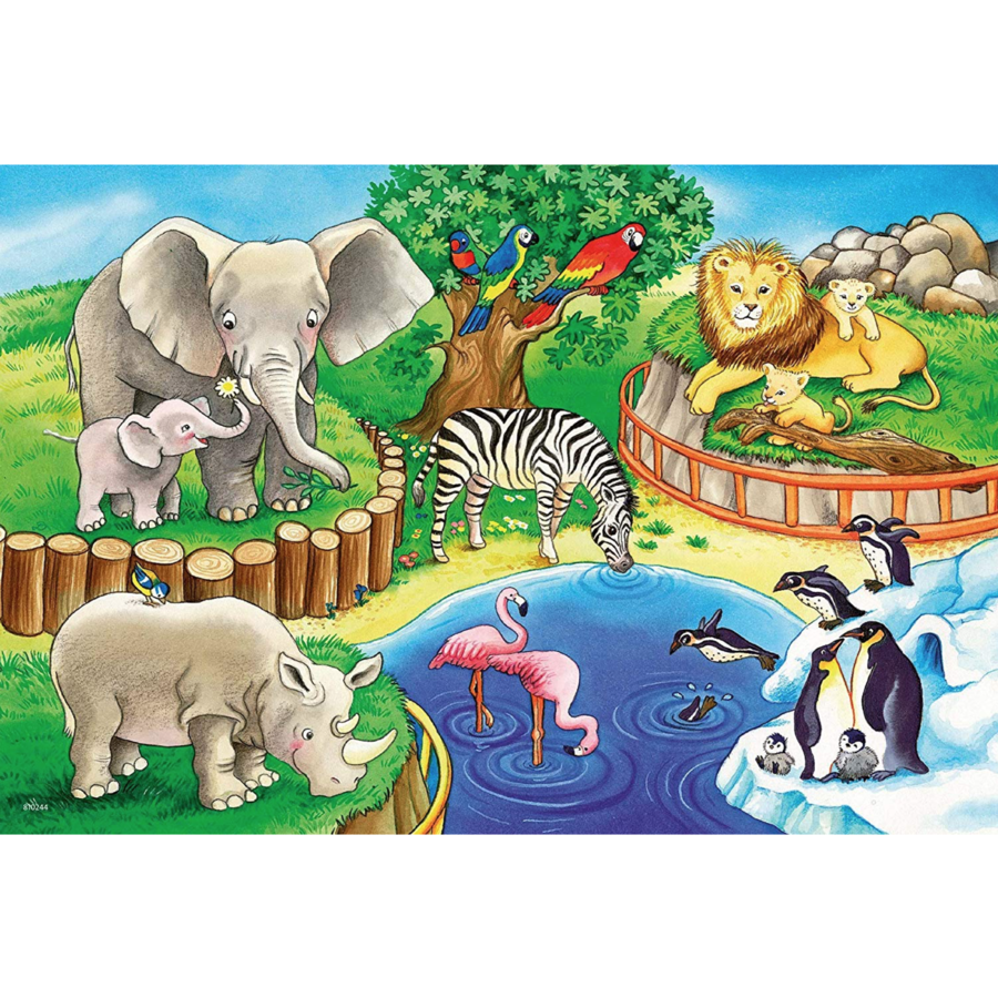 Animals in the zoo - 2 puzzles of 12 pieces-3