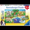 Ravensburger Dieren in de dierentuin - 2 puzzels van 12 stukjes