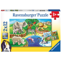 thumb-Animals in the zoo - 2 puzzles of 12 pieces-1