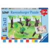 Ravensburger Wolf - 2 puzzles of 12 pieces