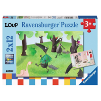 thumb-Wolf - 2 puzzles of 12 pieces-1