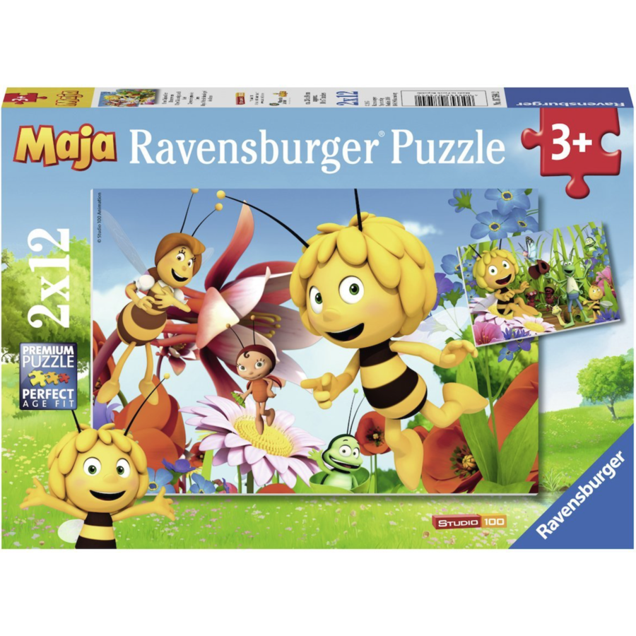 Maya the bee - 2 puzzles of 12 pieces-1