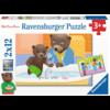 Ravensburger Bruin de Beer - 2 puzzels van 12 stukjes