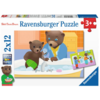 Ravensburger Little Brown Bear - 2 puzzles of 12 pieces