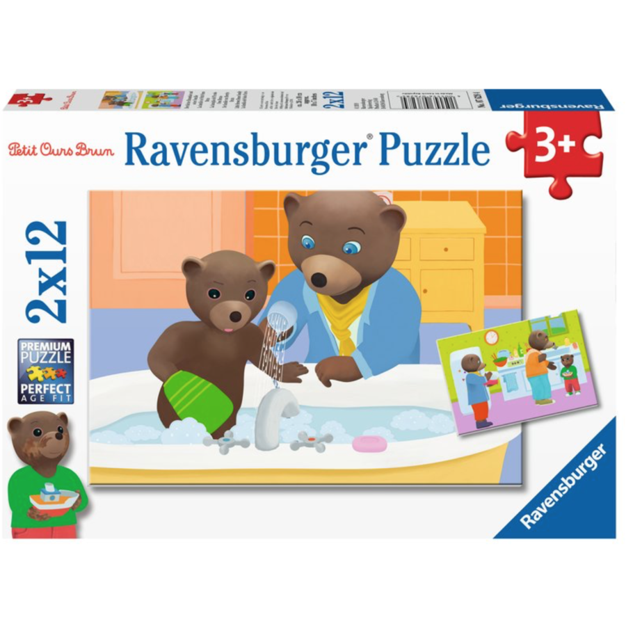 Little Brown Bear - 2 puzzles of 12 pieces-1