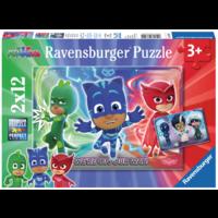 thumb-PJ Masks - 2 puzzles of 12 pieces-1
