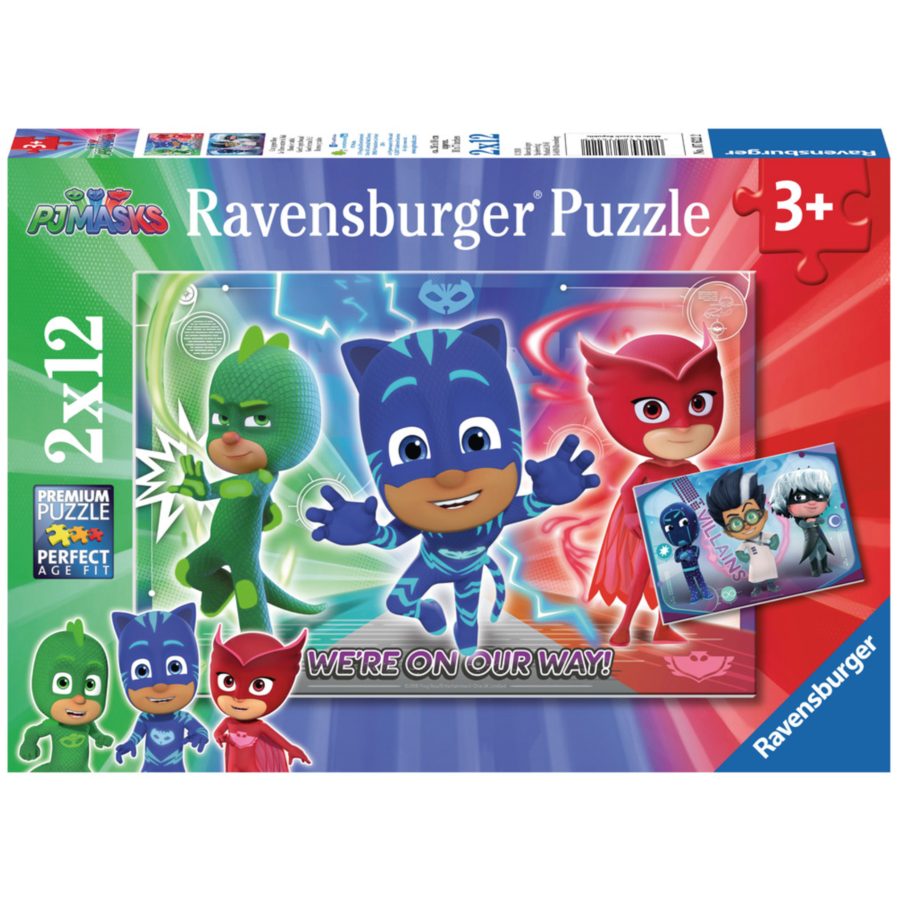 PJ Masks - 2 puzzles of 12 pieces-1