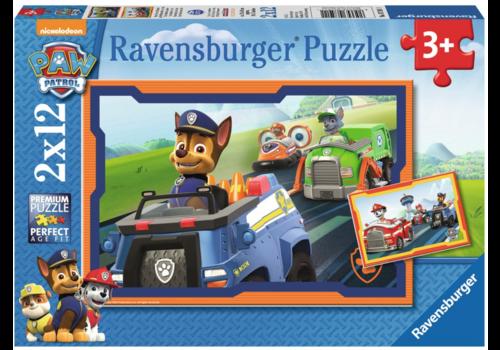 Ravensburger Paw Patrol in actie - 2 x 12 stukjes