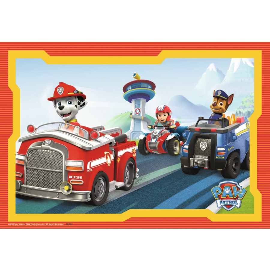 Paw Patrol in action - 2 puzzles of 12 pieces-2