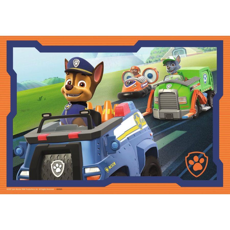Paw Patrol in action - 2 puzzles of 12 pieces-3