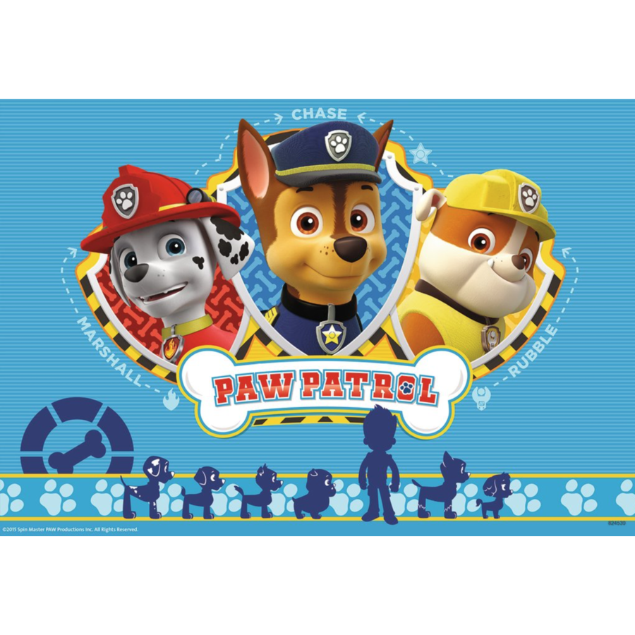 Paw Patrol together with Ryder - 2 puzzles of 12 pieces-2