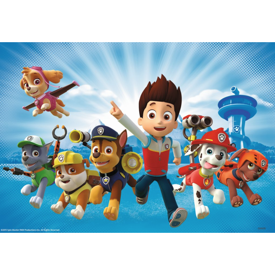 Paw Patrol together with Ryder - 2 puzzles of 12 pieces-3