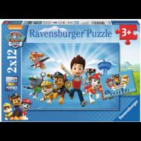 thumb-Paw Patrol samen met Ryder - 2 puzzels van 12 stukjes-1