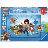 thumb-Paw Patrol together with Ryder - 2 puzzles of 12 pieces-1